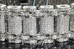 10Ct Round Cut Diamond Elegant Men's 8 Statement Bracelet 14k White Gold Over