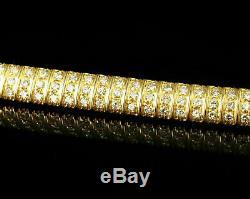 10.00Ct Round-Cut 14k Yellow Gold Over Diamond Tennis Bracelet D/VVS1 7.25 Inch