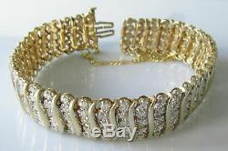 10.00 Carat Round Cut VVS1 Diamond Tennis Bracelet 14k Yellow Gold Over 7.25