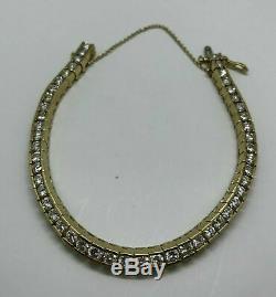 10.00 Carat Round Diamond Link Tennis Ladies Bracelet 14K Yellow Gold Over 7.25
