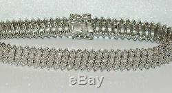 10.00 Carat Round VVS1 Diamond Tennis Ladies Bracelet 14k White Gold Over 7.25