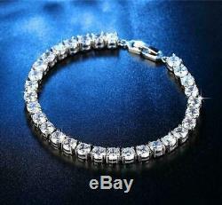 10.00 Ct Round VVS1 Diamond Tennis Bracelet 14K White Gold Over Women's 7.25