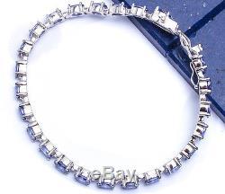 10 CARAT BEST SELLER! OVAL CUT TANZANITE. 925 Sterling Silver Bracelet 7