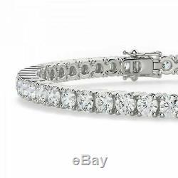 10 Ct Diamond Tennis Bracelet for Women Men in 14K White Gold Over 8 Inch Long