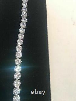 10 Ct Diamond Tennis perfect Bracelet 1 Row Round Cut 14K White Gold Over 7.25