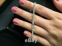 10 Ct Round Diamond Tennis Women's Bracelet 14k White Gold Over 7.50 Inch