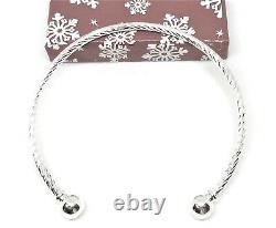 10 Pc. Lot 925 Sterling Silver Bracelet Bangle Womens Adjustable Twist D405G