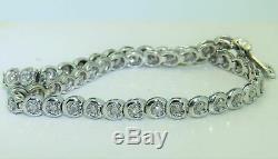 11 CT VVS1 DIAMOND TENNIS WOMEN'S NEW BRACELET 14K WHITE GOLD OVER 7.50'' Inch