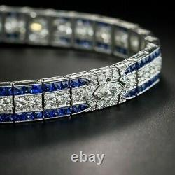 12.00 Carat Round Cut VVS1 Diamond Tennis Bracelet 14k White Gold Finish 8