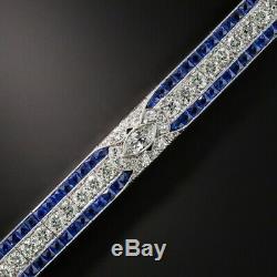 12.00 Carat Round Cut VVS1 Diamond Tennis Bracelet 14k White Gold Over 8
