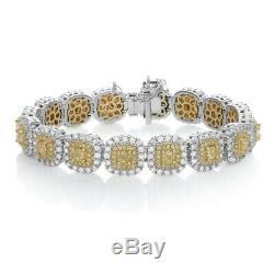12.00 Ct Cushion Cut Ladies VVS1 Diamond Tennis Bracelet 14k White Gold Over 8