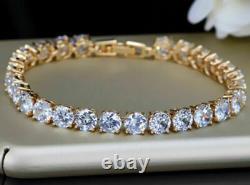 14K Rose Gold Over 5.00 Ct Diamond Tennis Women Bracelet 6.50 Round Cut Diamond