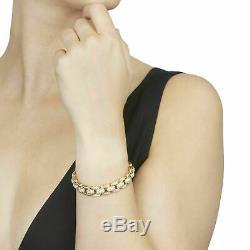 14K Yellow Gold Over 7.50 CT Round Cut Diamond Women's Link Bracelet 7.25