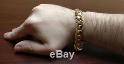 14k Gold Plated Sterling Silver Miami Cuban Link Bracelet, 13 mm