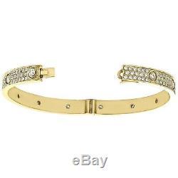 14k Yellow Gold Over 7CT Round Cut VVS1 Diamond Bangle Bracelet Mens Womens