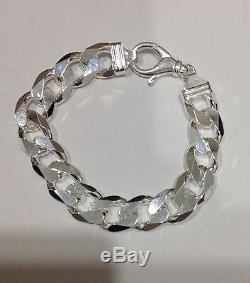 16mm 925 Sterling Silver Men's Cuban Link Bracelet 89