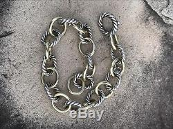 18K Yellow Gold & Sterling Silver David Yurman Medium Oval Link Bracelet