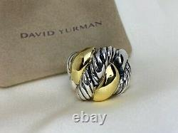 $1,150 David Yurman 925 Sterling Silver 20mm Wide Cordelia Ring with 18k Gold