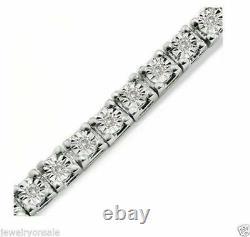 1 Row Diamond White Gold Finish Tennis Bracelet 7 Inch 0.25 Ct