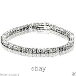 1 Row Genuine Natural Round Diamond Tennis Bracelet in 7 Inch