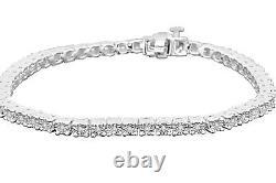 30 Carat Mens White Gold Finish Fanook Real Diamond 1 Row Link Tennis Bracelet