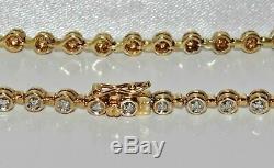 3.00 Carat Round Cut VVS1 Diamond Tennis Ladies Bracelet 14k Yellow Gold Over 7
