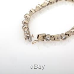 3.70 CTW Round Brilliant Diamonds men's-Women's Tennis Bracelet In 14k Gold Over