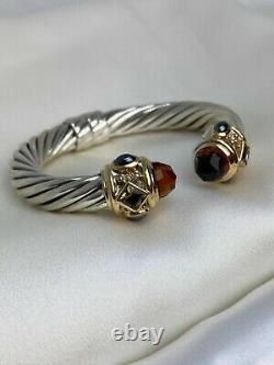 $3,900 David Yurman Renaissance Bracelet with Citrine & 14K Yellow Gold 10mm