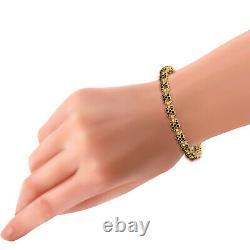 4.00Ct Round Cut Diamond Tennis Bracelet 14K Yellow Gold Over 7.25