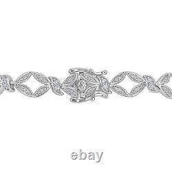 4.00 Ct Round Cut Diamond Tennis Bracelet 14K White Gold Over 7.25