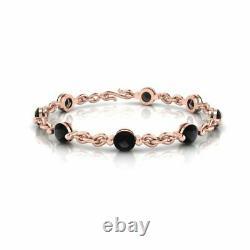 4.00 Ct Round Cut Diamond VVS1/D Link Bracelet 14K Rose Gold Over 7.25