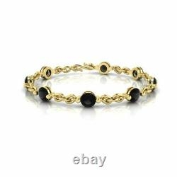 4.00 Ct Round Cut Diamond VVS1/D Link Bracelet 14K Yellow Gold Over 7.25