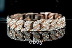 4.00 Ct Round Cut Diamond VVS1/D Tennis Bracelet 14K Rose Gold Over 7.25