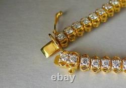4.00 Ct Round Cut Diamond VVS1/D Tennis Bracelet 14K Yellow Gold Over 7.25
