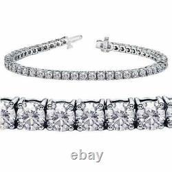 4.9 CT Diamond Tennis Bracelet Prong Set 14k White Gold Over Diamond Bracelet 7