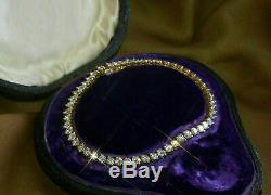 5.00 Carat Round Cut Ladies VVS1 Diamond Tennis Bracelet 14k Yellow Gold Over 7