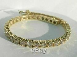 5.00 Carat Round Cut Ladies VVS1 Diamond Tennis Bracelet 14k Yellow Gold Over 8