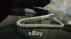 5.00 Carat Round Cut VVS1 Diamond Tennis Bracelet 14k White Gold Over 7