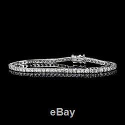 5.00 Carat Round Cut VVS1 Diamond Tennis Bracelet 14k White Gold Over 7.25