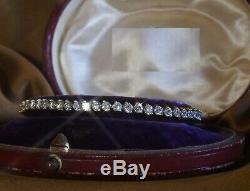 5.00 Carat Round Cut VVS1 Diamond Tennis Ladies Bracelet 14k Yellow Gold Over 7