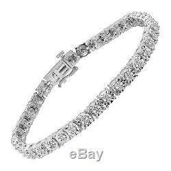 5.00 Carat Round Diamond Link Tennis Ladies Bracelet 14K White Gold Over 7.25