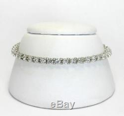 5.00 Ct Diamond Tennis Bracelet 7 Round Cut Diamonds 14K White Gold Over