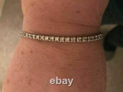 5.00 Ct Round Cut Diamond Pretty Tennis Women's Bracelet 7 14k White Gold Over