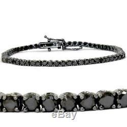 5.00 Ct Round Cut Ladies AAA Diamond Tennis Bracelet 14k Black Gold Over 7.25