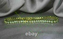5.00 Ct Round VVS1 Brilliant Diamond Tennis Ladies Bracelet 14k Yellow Gold Over