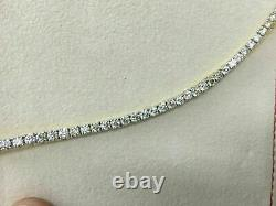 5.72 Ct Round Cut Diamond Women's Tennis Bracelet 7.25 In 14k Yellow Gold Over