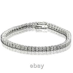 5 CT Women's Tennis Bracelet with genuine diamonds in white gold finish