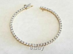 5 Carat Round Diamond Link Tennis Ladies Bracelet 14K Yellow Gold Over 8