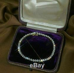 5 Ct Round Cut VVS1 Diamond Tennis Ladies Bracelet 10k Yellow Gold Over 7.25