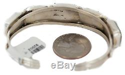 $600Tag. 925 Sterling Silver Navajo Natural Turquoise Native American Bracelet
